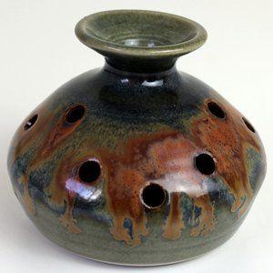 Jim Curtis Bendigo Pottery Vase Potpourri Incense